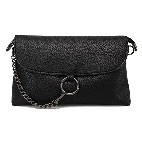 Classic Black Leather Handbag - 5