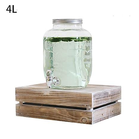 Amazon.com | Glass Beverage Dispenser With Faucet, Indoor ...