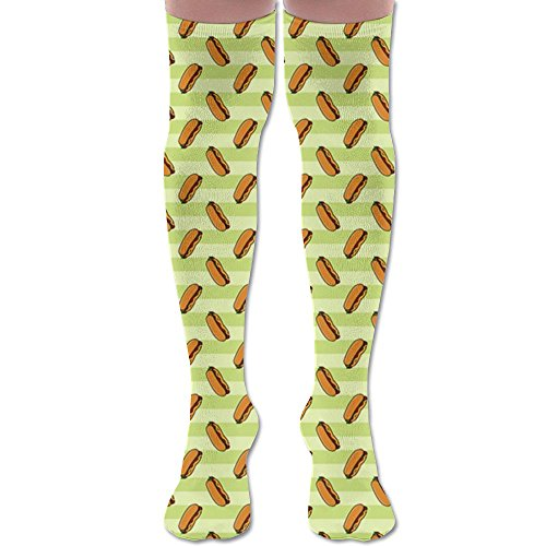 Women Over Knee High Socks Hot-dog Extra Long Athletic Sport Tube -