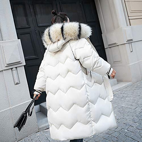 Doudoune Manteau Grande Polaire Jacket Capuche Hiver Femme Sanfashion Fourrure Blanc Longue Taille 4WBFpwT0