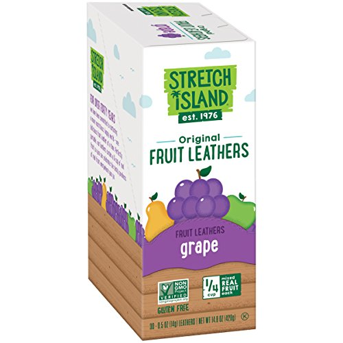 Stretch Island Original Fruit Leather, Grape, 0.5 Ounce (Pack of 30) (Flavor Grape Strips)