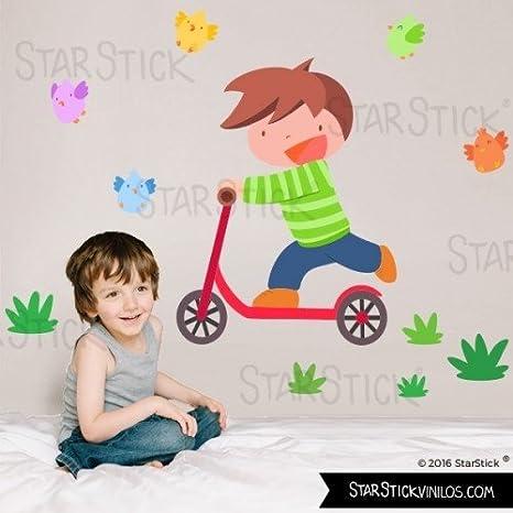 StarStick - Niño con patinete Play - Vinilo infantil - T1 ...