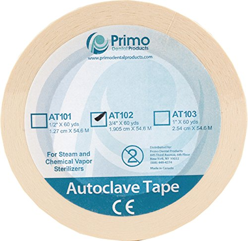 Primo Dental Products AT102 Autoclave Sterilization Indicator Tape, 3/4'', 60 yd