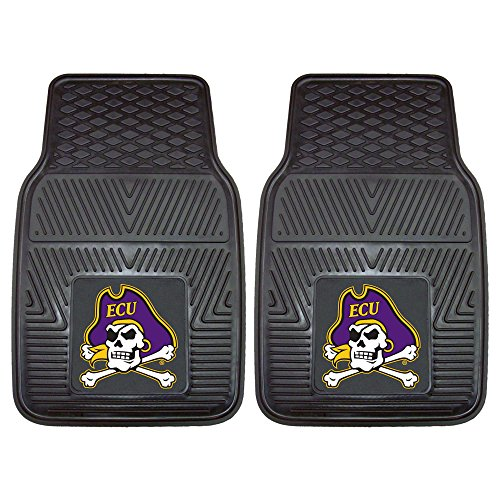 Fanmats East Carolina University Heavy Duty Vinyl Car Mat (2 Piece), 18