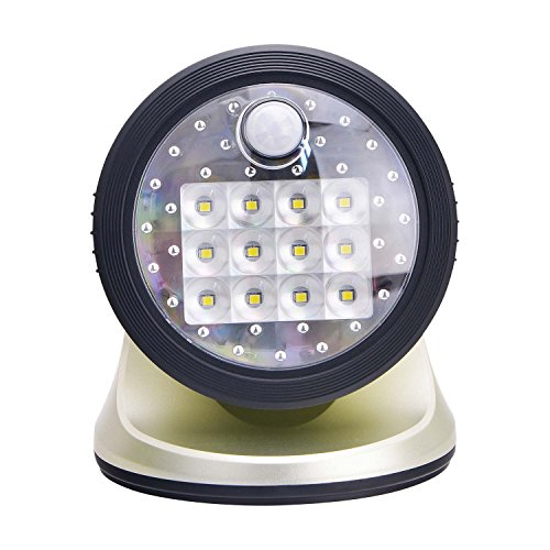 - Light It! By Fulcrum, 12-LED Motion Sensor Security Light, Wireless, Battery Operated, Silver