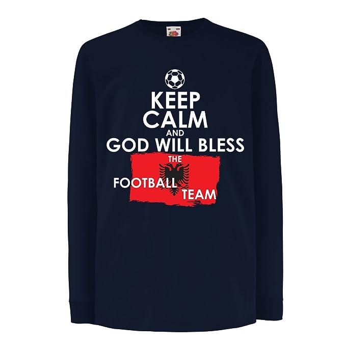 Niños/Niñas Camiseta Dios bendecirá al Equipo de fútbol Nacional albanés - Campeonato, Equipo