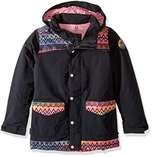 (Burton Little Girls' Elstar Parka Jacket, True Black/Technicat Dream, Small)