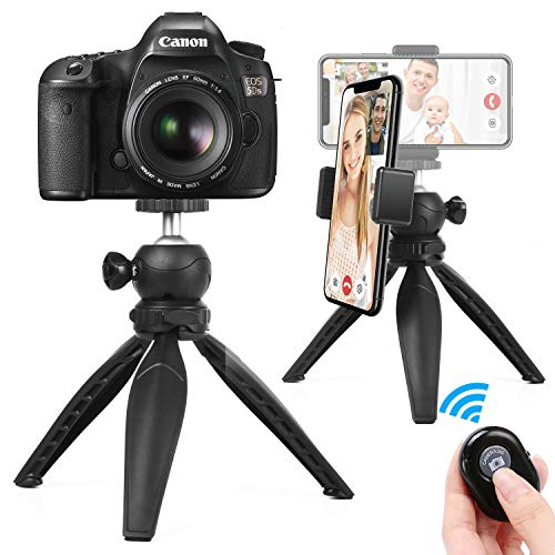 Phone Tripod, Foaber Mini Portable Travel Cell Tripod Holder for iPhone X 8 Plus/Samsung/GoPro/DSLR Camera and All Mobile Phones