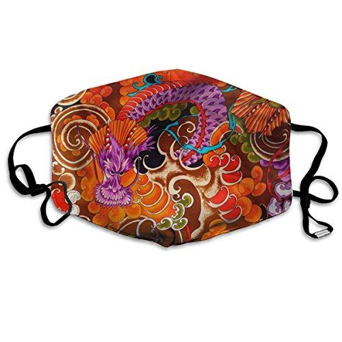 - BLongTai Mouth Cover Mask Ancient Dragon Mural Fashion Anti Dust Half Face Masks