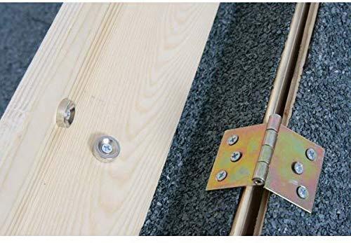 Caseta Madera tejado plano Large 112 x 82 x 76 cm: Amazon.es: Productos para mascotas