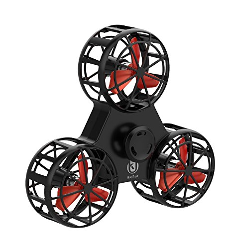 sendcool Flying Fidget Spinner, Toy Whirling Aircraft,Relieving Tension Stress and Anxiety,USB Rechargable,Best Gift for Yourself Or Your Kids(2018 New Version)