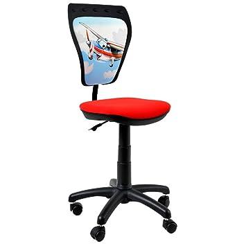 Stuhl Rücken ergonomischer kinder dreh stuhl flugzeug motiv rücken lehne
