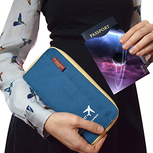 high-quality Casa Essentials 2 Piece Set RFID Blocking Sleeves Passport Protector/Holder/Case in Galaxy Graphic for Identity Theft Protection