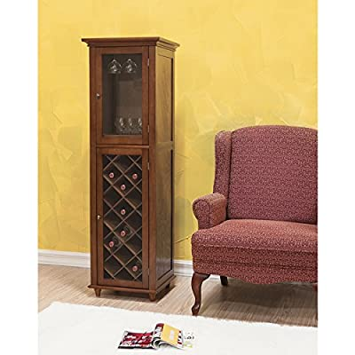 Elegant Home Fashions Kensington 20-bottle Solid Metal Wood Wine Storage Cabinet
