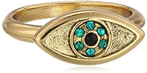 House of Harlow 1960 14k Yellow Gold-Plated Evil Eye Ring, Size 7