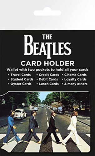 1art1 The Beatles Credit Card Holder Wallet for Fans Collectible - Abbey Road (4 x 3 inches) ()