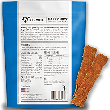 Dogswell 100 Meat Jerky for Dogs, Made in the USA with Glucosamine, Chondroitin New Zealand Green Mussel for Healthy Hips