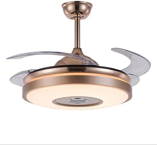 NINEONE Ventilador de Techo con Control Remoto Fuente de luz LED ...