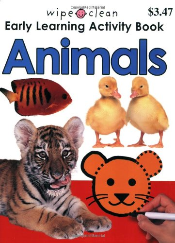 Wipe Clean Activity Animals Books