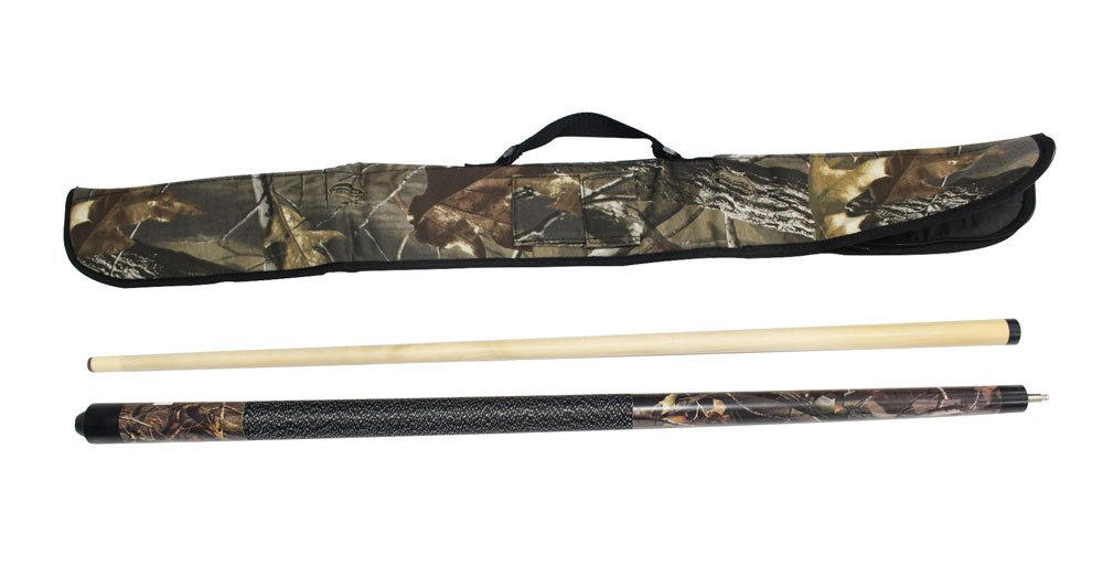 Game Room Guys Viper Realtree 20 oz Hardwoods Camo Cue with Soft Hardwoods HD Camo Case