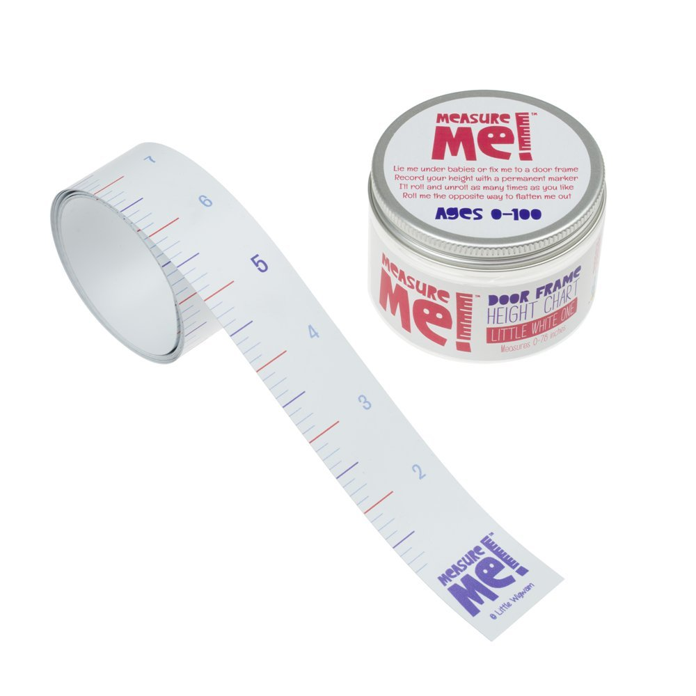 Measure Me! Roll-up Door Frame Baby Height Chart - Little White One (inches) Little Wigwam