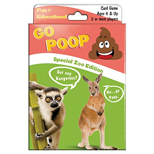 Tree-Free Greetings Favorite Zoo Animals Go Poop Card Game, for Ages 4 and Up (KG13402) ()
