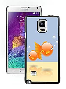Fashionable And Unique Designed With Goldfish Cover Case For Samsung Galaxy Note 4 N910A N910T N910P N910V N910R4 Black Phone Case CR-256
