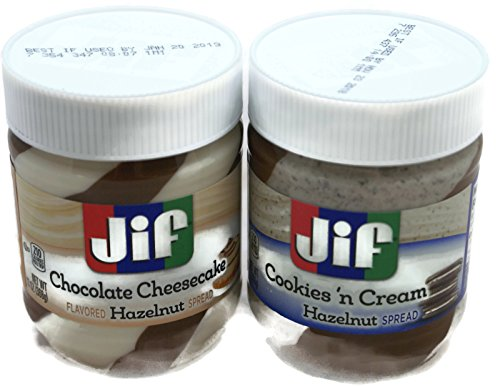 Variety Pack - Jif Hazelnut Spreads (13 oz) - Cookies n Cream, Chocolate Cheesecake ()