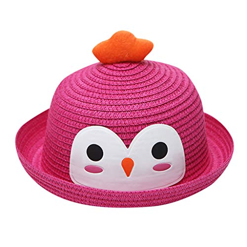 - Wesracia Baby Girls Hat Sun Protection,Cute Cartoon Turkey Hats,Breathable Straw Hat Fit for 6~24 Months Old Baby (Hot Pink)