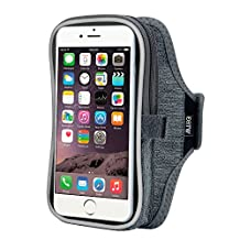 "Running Armband iPhone 6/6s Plus,Sport Armband Case for Samsung Galaxy s5/s6/s6 edge/s7/s7 edge plus/grand prime,Huawei p7/p8/p8 lite/p9/p9 lite plus,Oneplus 2/3 etc and other Similar 5.5"" Phones - Grey"