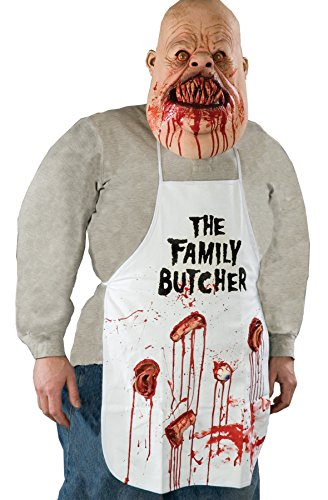 UHC Men's Family Butcher Apron Horror Theme Adult Halloween Costume, OS
