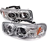 Spyder Auto PRO-YD-CDE00-HL-C GMC Sierra 1500/2500/3500/GMC Sierra Denali Chrome Halo LED Projector Headlight with Replaceable LEDs
