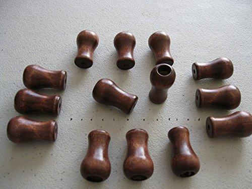 Real Wood Blind Tassels/ Cord Drop in CHERRY Stain, Vase Shaped (Tassel Vase)