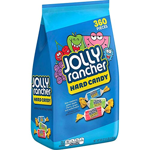 Bulk Hard Candy (HERSHEY'S Jolly Rancher Bulk Halloween Candy, 365 pieces, 5lbs)