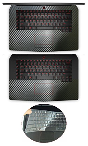 (3in1 Full + Half Wrist Palmrest Touchpad Sticker + Keyboard Cover Protector for 15.6