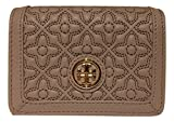 Tory Burch Bryant Leather Foldable Card Case (French Gray)