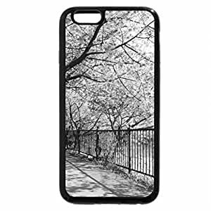 iPhone 6S Case, iPhone 6 Case (Black & White) - Blooming walk