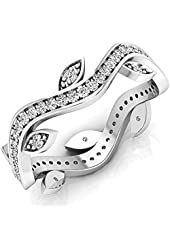 0.40 Carat (ctw) 14K Gold Round White Diamond Ladies Vintage Wedding Eternity Band Stackable Ring