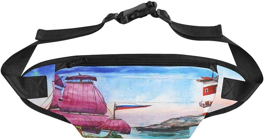 InterestPrint Fanny Pack Riñonera para Hombres y Mujeres, Guerrero Samurai con Dos Espadas de Fuego Viaje Bum Bag Cintura Packs Cinturón: Amazon.es: Deportes y aire libre