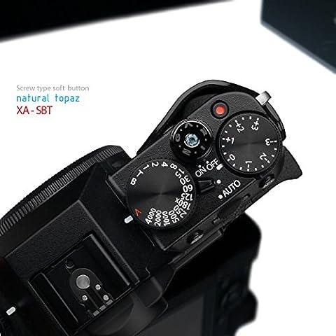 Gariz Jewelry XA-SBT Screw Type Soft Button Release Shutter X-PRO1 XPRO1 X-E1 XE1 X100 X10 X100S X20 LEICA CONTAX, Blue - Topaz Button