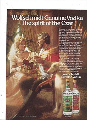 Wolfschmidt Vodka (**PRINT AD** For 1982 Wolfschmidt Vodka: Spirit of The Czar **PRINT AD**)