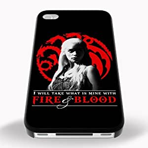 Game of Thrones Inspired Fire & Blood iPhone 5c Printed Black Hard Case Cover