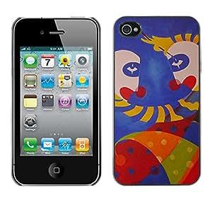 Be Good Phone Accessory // Dura Cáscara cubierta Protectora Caso Carcasa Funda de Protección para Apple Iphone 4 / 4S // monkey face