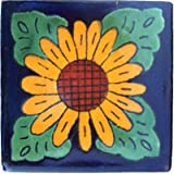 4.2x4.2 9 pcs Sunflower Talavera Mexican Tile