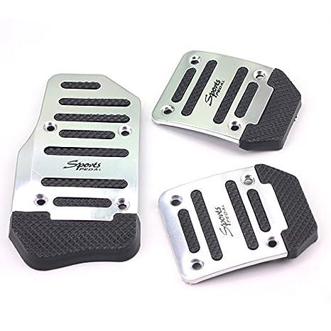 3pcs Anti/antideslizante deportes manual MT Coche Acelerador Freno de embrague Pedal Cubierta Kit: Amazon.es: Coche y moto