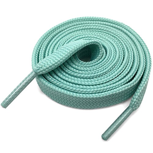 DELELE Solid Flat Shoelaces Hollow Thick Athletic Shoe Laces Strings Moonlight 2 Pair 32