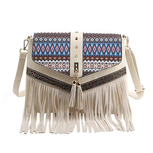 2015 Fashion Tassel Suede Fringe Single Shoulder Handbag for Girls and Women ()
