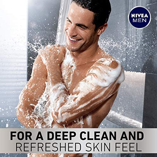 NIVEA Men Deep Active Clean Body Wash - 8-Hour Fresh Scent with Natural Charcoal - 16.9 Fl. Oz. Bottle (Pack of 3) 3