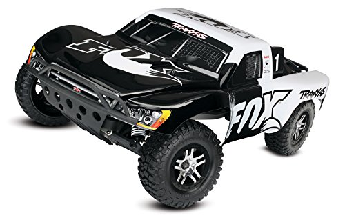 Traxxas Automobile 58076-4 Slash 2WD 1 10 Brushless Short Course Truck with Tqi 2.4GHz Radio and Tsm - Fox