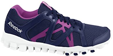 Reebok Realflex Train RS 2.0 Womens Running Shoe 5 Faux Indigo-Berry-White